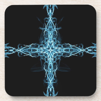 Abstract cross drink coaster