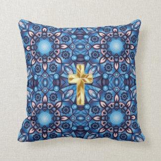 abstract cross pillow
