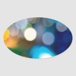 Abstract Crystal Reflect Bells Oval Sticker