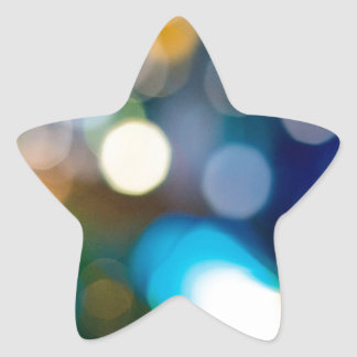 Abstract Crystal Reflect Bells Star Sticker