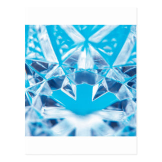 Abstract Crystal Reflect Break Postcard