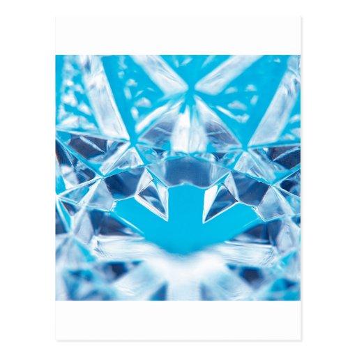 Abstract Crystal Reflect Break Postcard