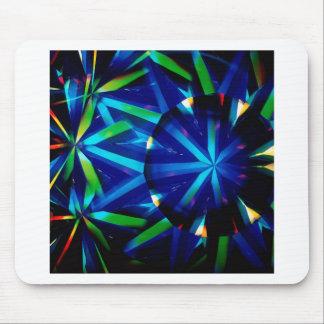 Abstract Crystal Reflect Bright Diamond Mousepad