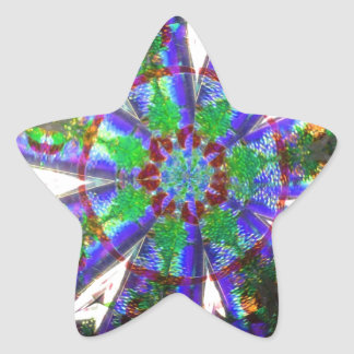 Abstract Crystal Reflect Dandelion Star Sticker