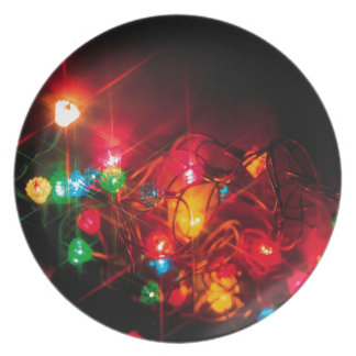 Abstract Crystal Reflect Decorations Dinner Plates