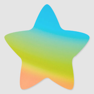 Abstract Crystal Reflect Half Rainbow Star Sticker