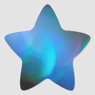 Abstract Crystal Reflect Lightsaber Star Sticker
