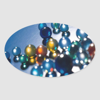 Abstract Crystal Reflect Marbles Oval Sticker