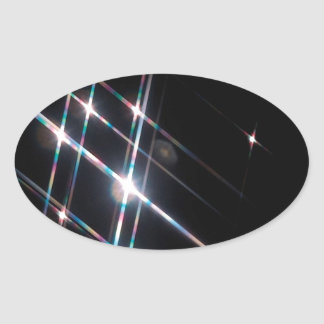 Abstract Crystal Reflect Matrix Oval Sticker