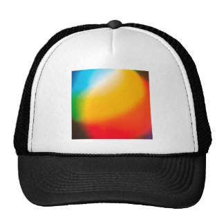 Abstract Crystal Reflect Mix Paint Trucker Hats