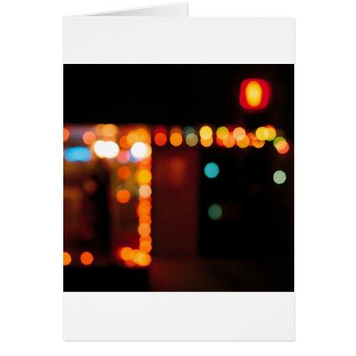 Abstract Crystal Reflect Nightlife Card