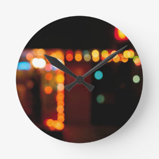 Abstract Crystal Reflect Nightlife Round Clocks