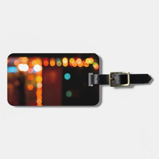 Abstract Crystal Reflect Nightlife Tag For Luggage