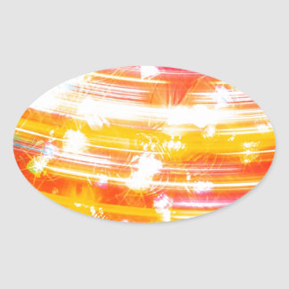 Abstract Crystal Reflect Swift Oval Stickers