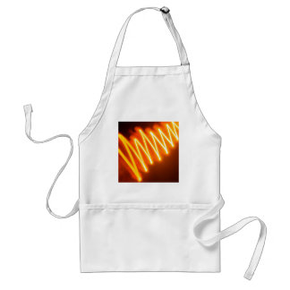 Abstract Crystal Reflect Zigzag Aprons