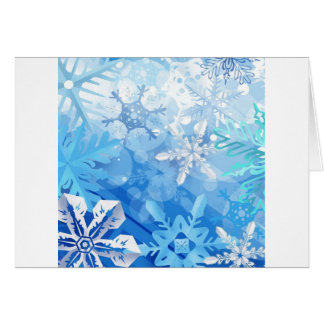Abstract Crystals Blue Ice Cards