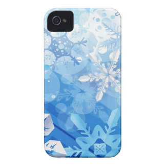 Abstract Crystals Blue Ice iPhone 4 Case-Mate Case