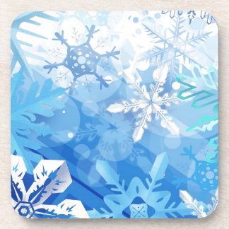 Abstract Crystals Blue Ice Coaster