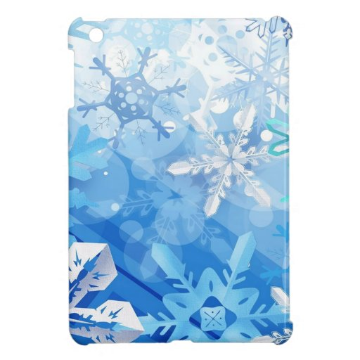 Abstract Crystals Blue Ice Case For The iPad Mini