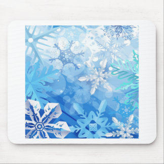 Abstract Crystals Blue Ice Mouse Pads