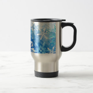 Abstract Crystals Blue Ice Mug