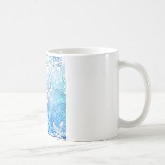 Abstract Crystals Blue Ice Coffee Mug