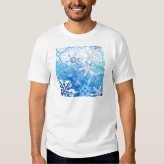 Abstract Crystals Blue Ice Tshirt