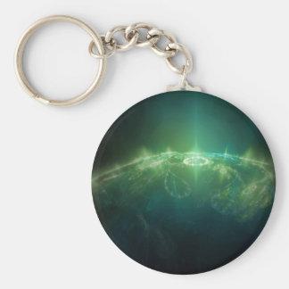 Abstract Crystals Green Globe Key Chain