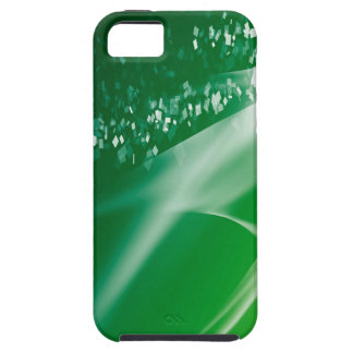 Abstract Crystals Green Twilight iPhone 5 Cover