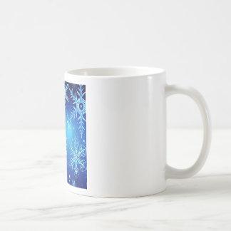 Abstract Crystals Perfect Snow Flakes Basic White Mug