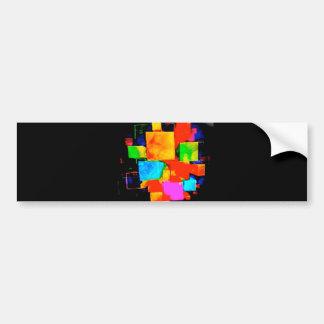 Abstract Cubes - altered random colourful digital Bumper Sticker