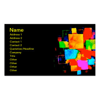 Abstract Cubes - altered random colourful digital Business Card Templates