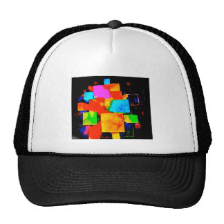 Abstract Cubes - altered random colourful digital Trucker Hat