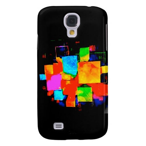 Abstract Cubes - altered random colourful digital Galaxy S4 Cases