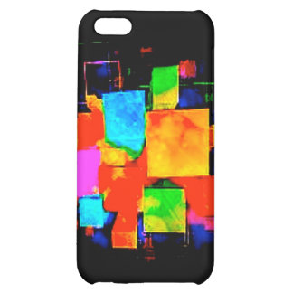 Abstract Cubes - altered random colourful digital Cover For iPhone 5C