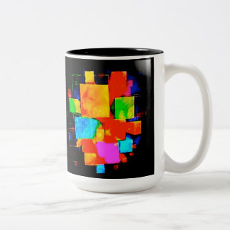 Abstract Cubes - altered random colourful digital Coffee Mugs