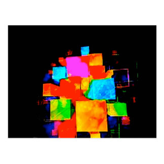 Abstract Cubes - altered random colourful digital Postcard