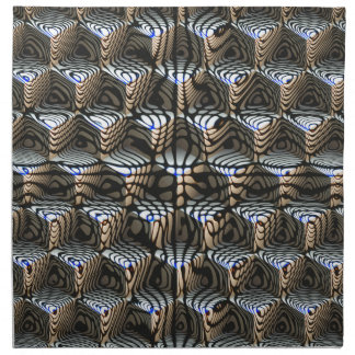 Abstract Cubes Napkin