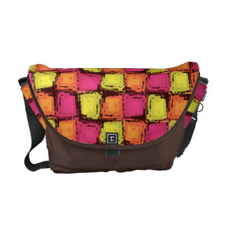 Abstract Cubes of Fun Color Courier Bag