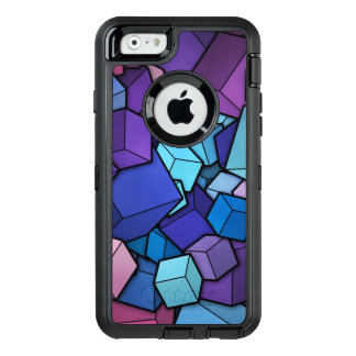Abstract Cubes OtterBox Defender iPhone Case