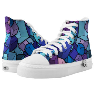 Abstract Cubes Printed Shoes