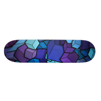 Abstract Cubes Skate Board Deck