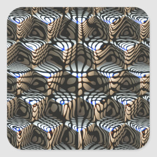 Abstract Cubes Square Sticker