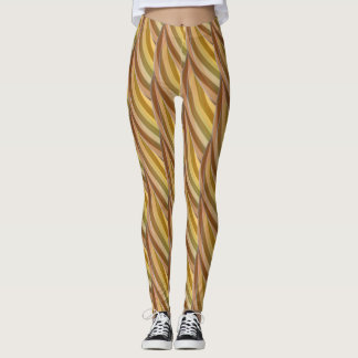 Abstract Curly Wave Pattern #2 Leggings