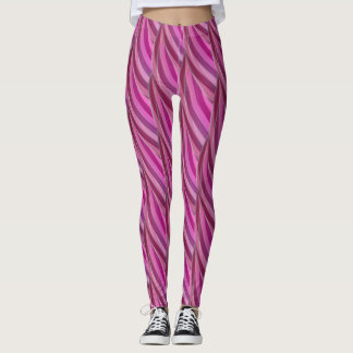 Abstract Curly Wave Pattern #3 Leggings