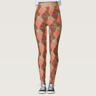 Abstract Curly Wave Pattern #5 Leggings