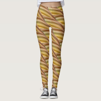 Abstract Curly Wave Pattern Leggings