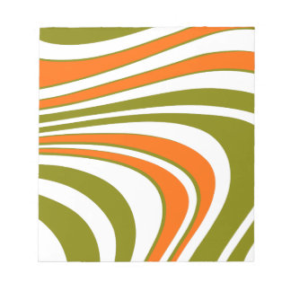 Abstract curvy Stripes Notepad