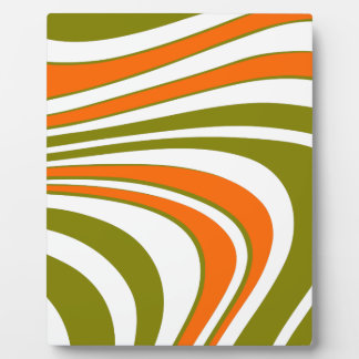 Abstract curvy Stripes Plaque