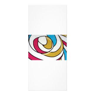 Abstract Customized Rack Card